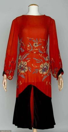 Jean Patou evening ensemble, late 1920s
