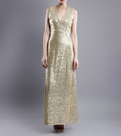 VIJAY BALHARA - Golden Sequined Georgette & Silk Dress FLAT 80% OFF! Click on the photo to shop this outfit! :) *Limited period offer!