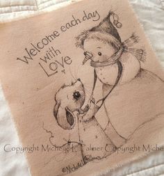 Sweet little friends find their way into my heart and I love to sketch them for you!  December 2014