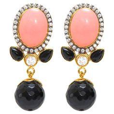 Catherine Earrings in Pink & Black at Joss & Main