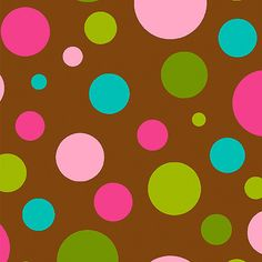 Creative Cuts Cotton Fabric, Scattered Dot Print, Brown