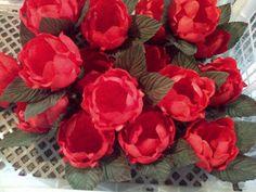 Forminhas para doces finosObra de Arte: Lindas alcachofras vermelhas