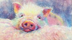 "Pastel Painting Tutorial / ""This Little Piggy"""