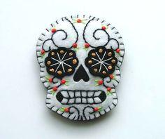 Mexican Sugar Skull Dia de los Muertos Hand by TheDollCityRocker, $15.00
