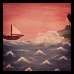 Sailor and mermaid Sailor, My Arts, Mermaid, Painting, Painting Art, Paintings, Painted Canvas, Nautical