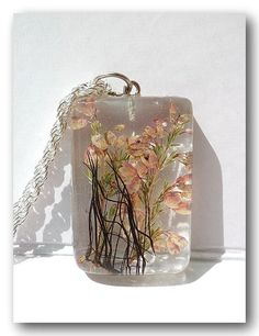 Resin Jewelry Handmade Jewelry Resin with Real by Annysworkshop, $15.00