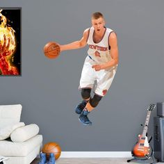 Fathead NBA New York Knicks Kristaps Porzingis Wall Decal - 22-20650