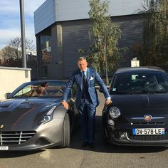 #LapoElkann Lapo Elkann: do it better Ferrari California T and Fiat 500 Abarth 595 Turismo .#italiansdoitbetter #❤️auto @garageitaliacustoms
