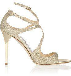 Pin for Later: Cinderella wäre auf diese Schuhe ganz schön neidisch  Jimmy Choo Sandalen aus strukturiertem Lamé (595 €)