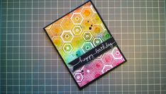 Cheryl Makes: : . Video . : Card Making #7 - Distress Ink Watercolor + Hero Arts Background Stamp