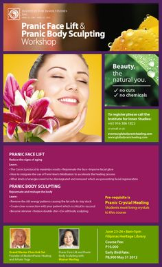 Energy healing meets beauty,  non-surgical energy face lift --  really intriguing .......