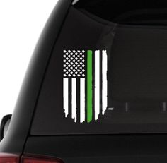 Distressed Black OPS American Flag Sticker Decal Subdued USA Car Truck Grunge HD