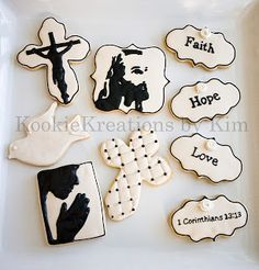 Religious cookies Jesus cookies Kookie Kreations by Kim - Modernes Cross Cookies, Cute Cookies, Easter Cookies, Easter Treats, Christmas Cookies, Christmas Eve, Coconut Biscuits, Coconut Cookies, Sugar Cookies