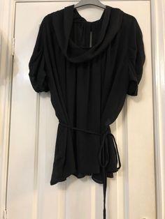 104756d7d449 Bnwot Zara Black Cowl Blouse Size Large Fit 14-18 #fashion #clothes #
