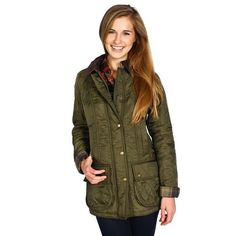 daff9bb775a76f Barbour Ladies Beadnell Polarquilt in Olive