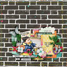 Layout using {Sing Your Heart Song} a digital scrapbooking collection by Amanda Yi and Blagovesta Gosheva. Sing your heart song is a fun, quirky collection full of unique elements and papers.  It's all about singing, dancing and enjoying life to the fullest!  Available at Sweet Shoppe Designs http://www.sweetshoppedesigns.com/sweetshoppe/product.php?productid=33857&cat=&page=1 #blagovestagosheva #digitalscrapbooking #digiscrap