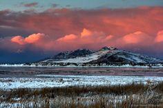 Brett Pelletier-   Antelope Island Winter Sunset - Great Salt Lake, Utah - December '08