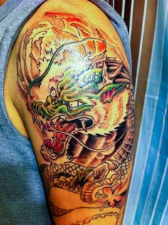 Traditional Japanese Dragon Head Tattoo traditional japanese dragon ...