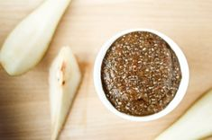 Quick, easy, and tasty! Five minute healthy pear jam Healthy Recipe Videos, Healthy Recipes, Healthy Food, Dips, Pear Jam, What's For Breakfast, Jam Recipes, Recipe Using, Food Videos