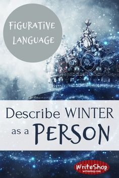 Describe winter as a person! Invite kids to explore figurative language and personification (and make a placemat) with this fun writing activity. Book Writing Tips, Narrative Writing, Writing Lessons, Writing Workshop, Teaching Writing, Writing Skills, Math Lessons, Writing Ideas, Poetry Lessons