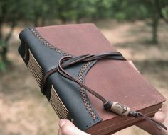 Your place to buy and sell all things handmade Diy Notebook, Handmade Notebook, Handmade Books, Journal Notebook, Leather Books, Leather Notebook, Leather Journal, Leather Jewelry, Leather Craft