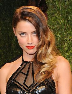 """Amber Heard shows off her new """"bronde"""" ombre at an Oscars' after party"""