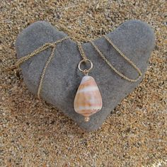 Hawaiian Shell Necklace Gold Maui Hawaii Shell Jewelry Peach Pearl Gift for Her. $40.00, via Etsy.