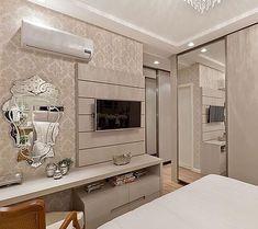 Interior Living Room Design Trends for 2019 - Interior Design Tv In Bedroom, Modern Bedroom, Bedroom Decor, Bedrooms, Karton Design, Casa Clean, Suites, Modern Interior Design, Interior Design Living Room