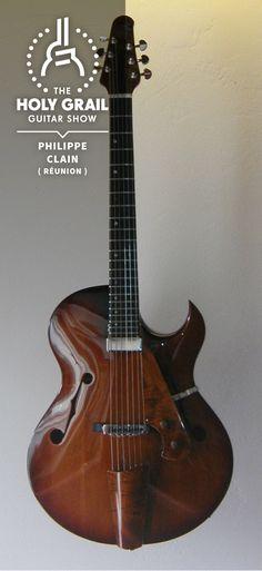 """Philippe Clain """"Costar"""" Electro-Acoustic custom guitar. Amazing! O_O  lessonator.com"""