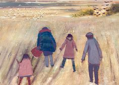 'Family Day Out' By Hannah Hann.  Blank Art Cards By  Green Pebble.