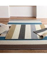 Company Wool Stripe Flatweave Rug, 4X6 - The Company Store