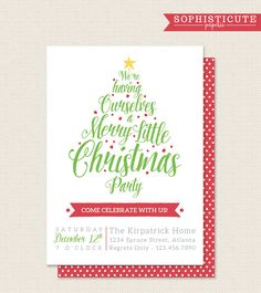 Elegant Holiday Party Invitation Diy  By Jadeforestdesign On Etsy