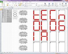 Planilha com Tabela Verdade para a montagem de Mapas de Karnaugh e visualização de Displays de 7 Segmentos.