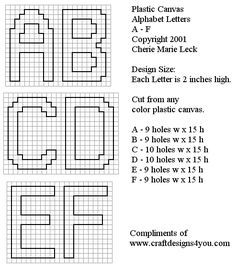 Cross sch and plastic canvas patterns for kids by cherie marie leck letter numbers ge nome craft types of patterns[. Plastic Canvas Letters, Plastic Canvas Coasters, Plastic Canvas Christmas, Plastic Canvas Crafts, Canvas Designs, Canvas Patterns, Craft Patterns, Graph Paper Art, Funny Cross Stitch Patterns