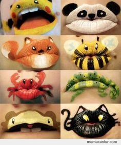 Lip Design via http://eigelb.tumblr.com/  FUNNY
