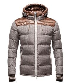 Moncler Fashion Eusebe Mens Down Jacket Short Brown [2781418] - £178.55 :