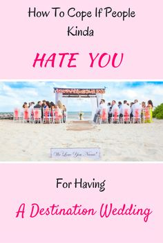 You can't keep all wedding guests happy, but you CAN hold your beautiful bride composure.(Wedding Photography by Fun In The Sun Weddings) http://www.funinthesunweddings.com/advice-blog/how-to-cope-if-people-hate-you-for-having-a-destination-wedding