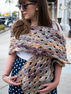 Crochet Amethyst Wrap