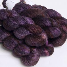 Raven, Silk/Merino Lace