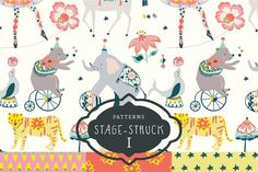 Stage-Struck Pattern Collection I  by sabinar on @creativemarket