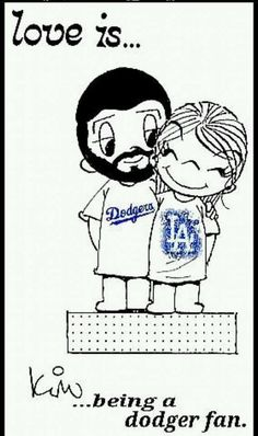 Love is dodgers baseball