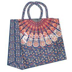Blue Mandala pattern shopping bag Mandala Pattern, Handicraft, Shopping Bag, Handbags, Girls, Blue, Stuff To Buy, Accessories, Design