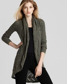 Quotation: Autumn Cashmere Sweater - Tweed Pointelle Drape Cardigan | Bloomingdale's