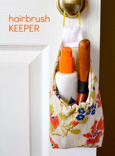 Hairbrush keeper - free pattern and tutorial