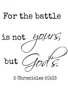 My husband lived by this verse when he battled cancer. He said he was just along for the ride. God was in charge.