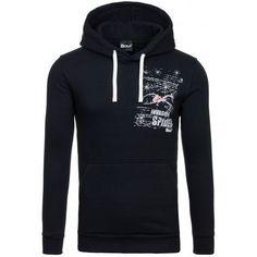 Štýlové pánske mikiny čiernej farby s kapucňou - fashionday.eu 0644e374781