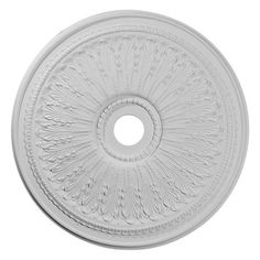 "Ekena 29-1/8"" OD Primed Urethane Oakleaf Ceiling Medallion with 3-5/8"" ID"