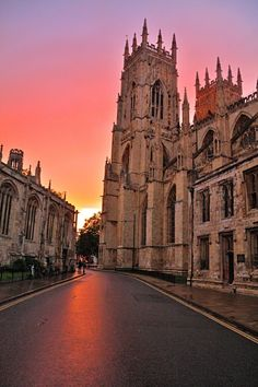 Minster Sunset - York, England, founded in 637AD