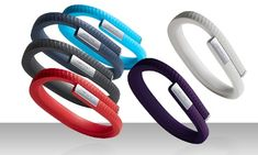 Wear this minimalist fitness band 24/7 to track your steps, bicycle rides, and hours of sleep, then use the free app to track your calories