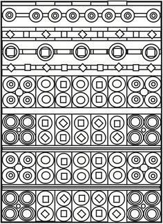 Welcome to Dover Publications - CH Playful Patterns Pattern Coloring Pages, Printable Coloring Pages, Colouring Pages, Coloring Pages For Kids, Coloring Sheets, Coloring Books, Color Optical Illusions, Zentangle Patterns, Zentangles